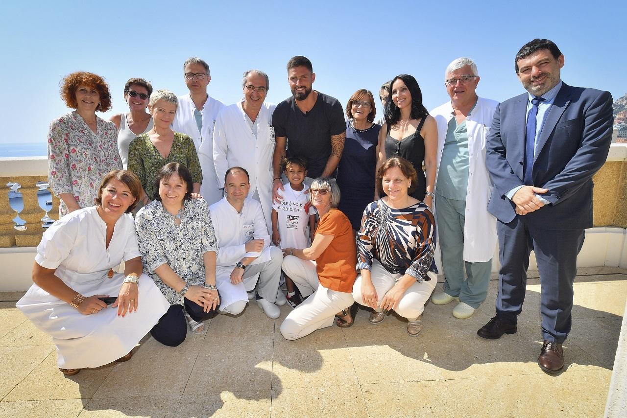 MCH Visite d'Olivier Giroud